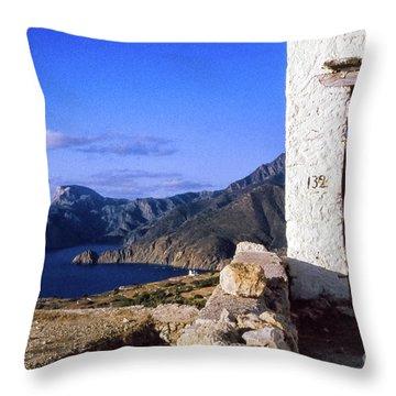 Throw Pillow featuring the photograph Karpathos Island Greece by Silvia Ganora