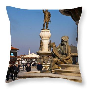 Karpos Rebellion Square Throw Pillow by Rae Tucker