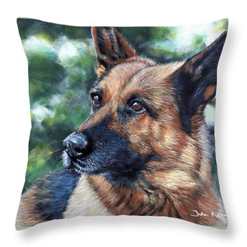 Throw Pillow featuring the painting Kasha by John Neeve