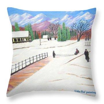 Kashmir Throw Pillow by Usha Rai