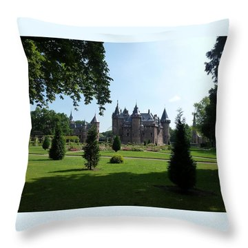 Kasteel De Haar In Haarzuilens Throw Pillow