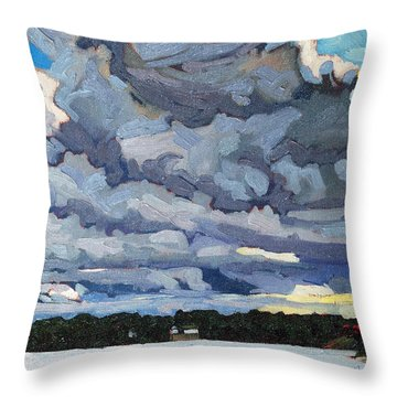 Katabatic Cold Front Throw Pillow by Phil Chadwick