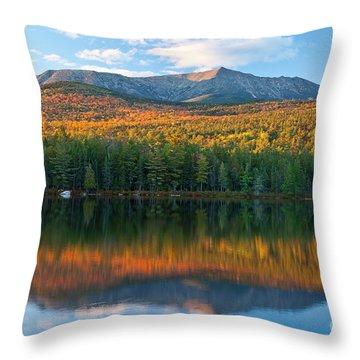 Katahdin Glow Throw Pillow by Susan Cole Kelly