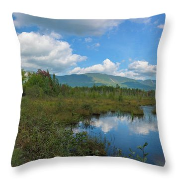 Katahdin In The Clouds Throw Pillow