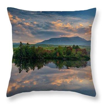 Katahdin Sunrise Throw Pillow