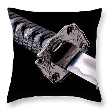 Katana Throw Pillow