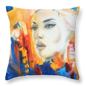 Kate Winslet Throw Pillow