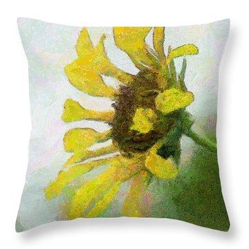 Kate's Sunflower Throw Pillow by Jeff Kolker