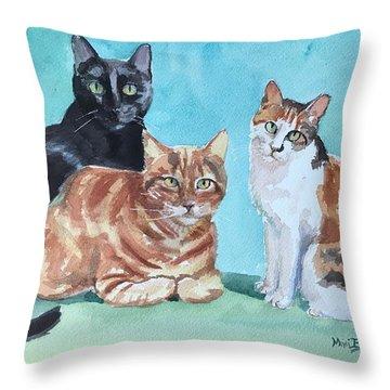 Kates's Cats Throw Pillow