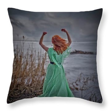 Katharsis Series 3/3 Release Throw Pillow by Agnieszka Mlicka