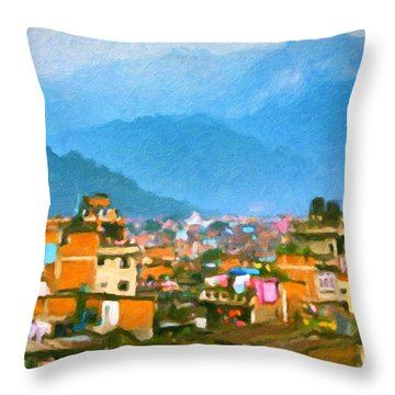 Kathmandu, Nepal Throw Pillow