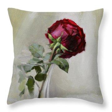 Big Rose Throw Pillow