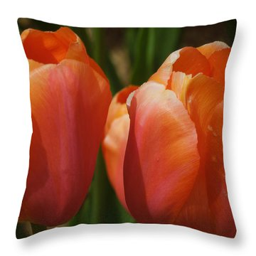 Kathy's Tulip Pair Throw Pillow