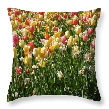 Kathy's Tulips Throw Pillow