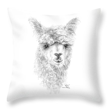 Throw Pillow featuring the drawing Katie by K Llamas