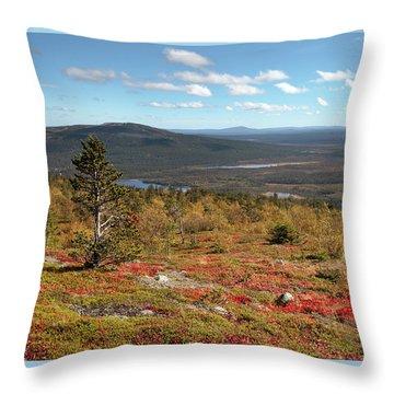 Katkatunturi Turns Into Red Throw Pillow