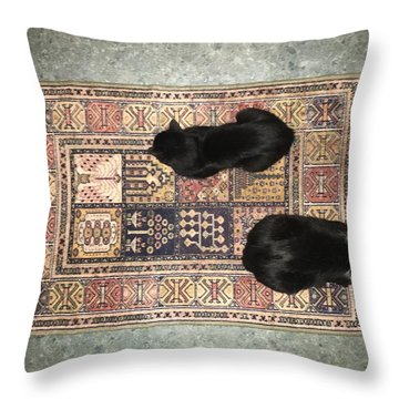 Katpets 3 Throw Pillow