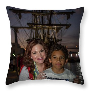 Throw Pillow featuring the photograph Katy And Baby James Art by Reid Callaway