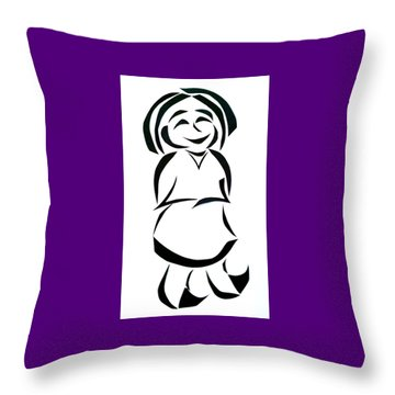Katy Rose Throw Pillow by Delin Colon