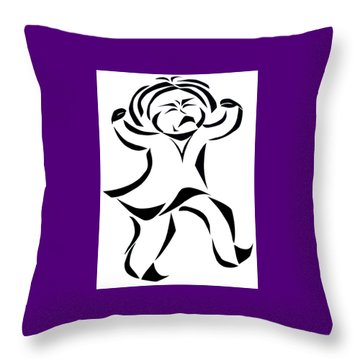 Katy Rose Says No Throw Pillow by Delin Colon