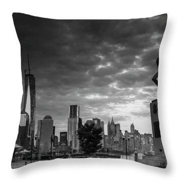 Katyn New World Trade Center In New York Throw Pillow