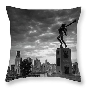 Throw Pillow featuring the photograph Katyn New World Trade Center In New York by Ranjay Mitra