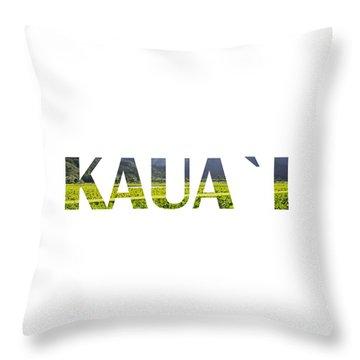 Kauai Letter Art Throw Pillow