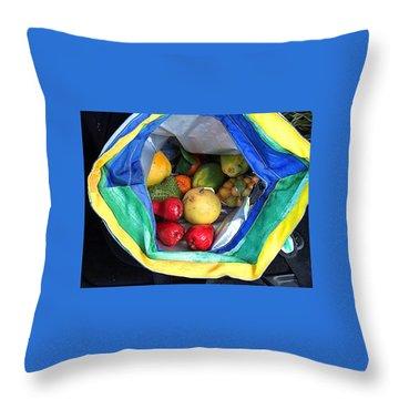 Throw Pillow featuring the photograph Kauai Market Treats by Brenda Pressnall