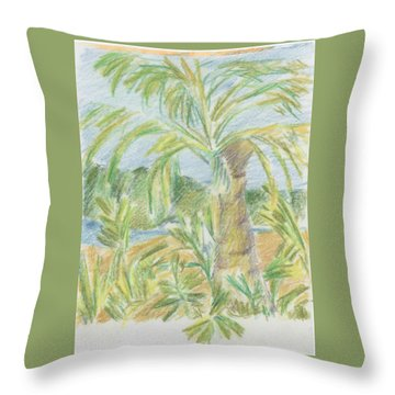 Kauai Palms Throw Pillow