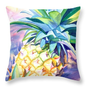 Kauai Pineapple 3 Throw Pillow by Marionette Taboniar