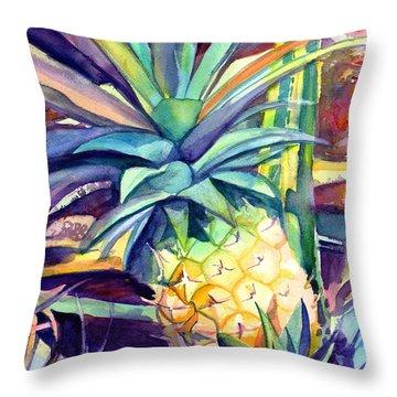 Kauai Pineapple 4 Throw Pillow