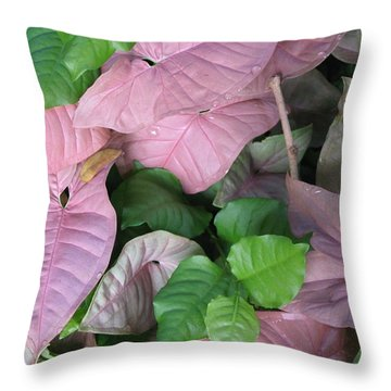 Throw Pillow featuring the photograph Kauai  Pinks by Carol Sweetwood