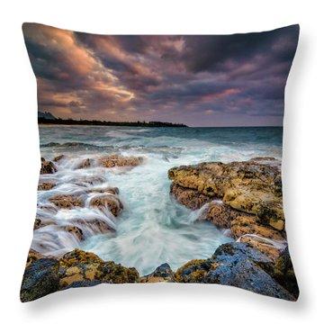 Kauai Ocean Rush Throw Pillow