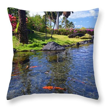 Kauai Serenity Throw Pillow