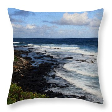 Kauai Shore 1 Throw Pillow