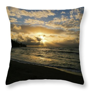 Kauai Sunrise Throw Pillow
