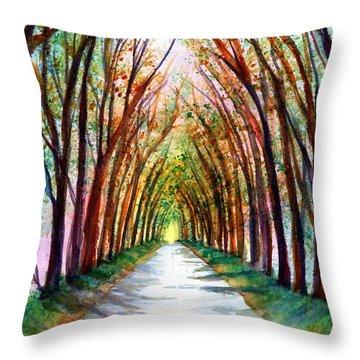 Kauai Tree Tunnel 4 Throw Pillow