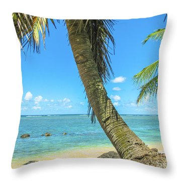Kauai Tropical Beach Throw Pillow