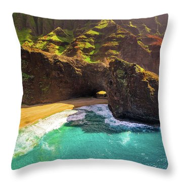 Kauai Tunnel Throw Pillow