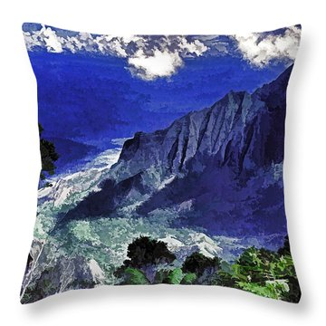 Kauai Valley Throw Pillow by Dennis Cox