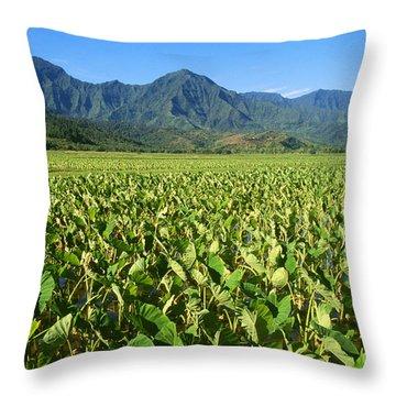 Kauai, Wet Taro Farm Throw Pillow by Himani - Printscapes