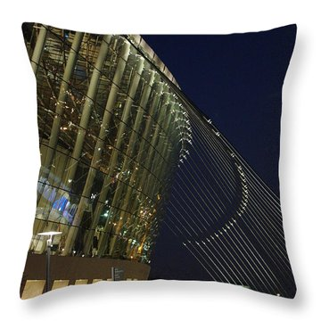 Kauffman Center For The Performing Arts Throw Pillow by Jim Mathis