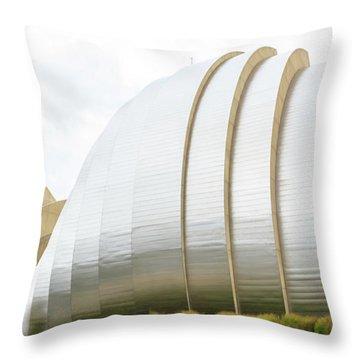 Kauffman Center Performing Arts Throw Pillow by Pamela Williams