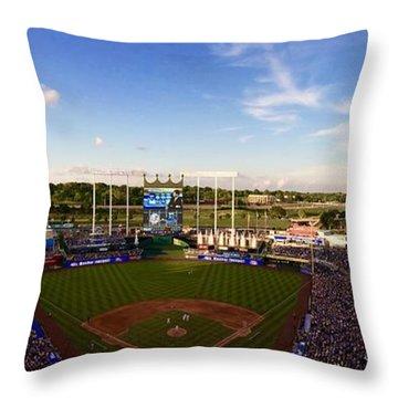 Kauffman Stadium Panorama  Throw Pillow