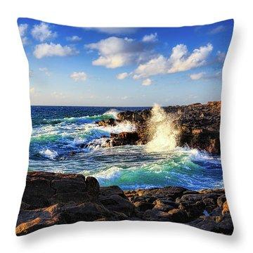 Kauai Surf Throw Pillow