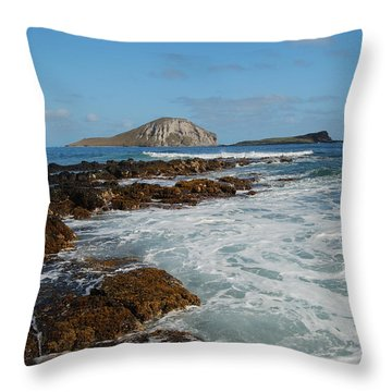 Kaupo Beach Throw Pillow by Michael Peychich