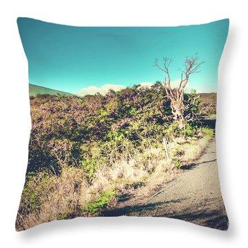 Kaupo Other Road To Hana Sunset Piilani Highway Maui Hawaii Throw Pillow by Sharon Mau