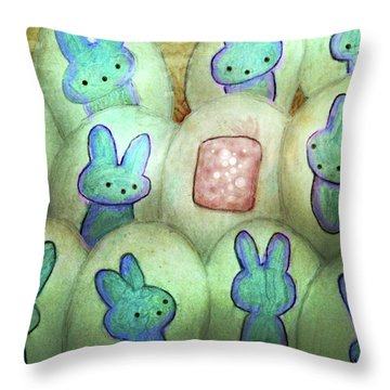 Kawaii Hatchery Crop Throw Pillow