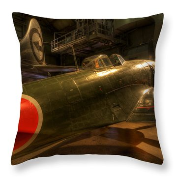 Kawanishi N1k2-ja George Throw Pillow