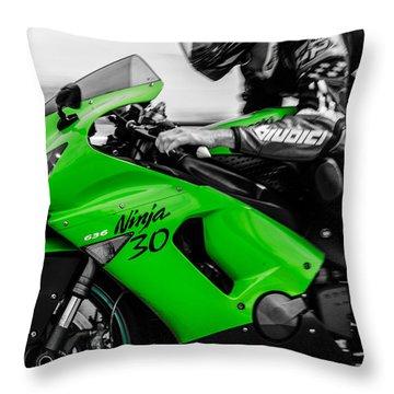 Kawasaki Ninja Zx-6r Throw Pillow